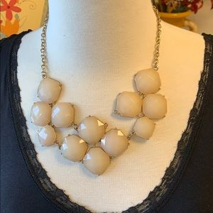 Cream stone chunky necklace